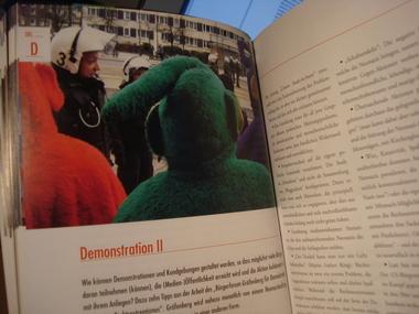 Buch-Ausschnitt Kapitel kreative Demonstrationen