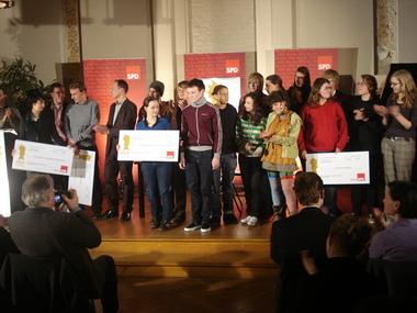 Alle Preisträger auf der Bühne