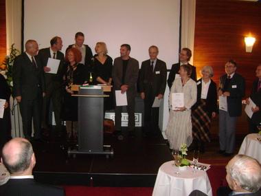 Bene Pliquet als Ehrengast unter den Spender und Stiftern der Amadeu Antonio Stiftung bei ihrem 10-jährigen Jubiläum am 1.12.2008
