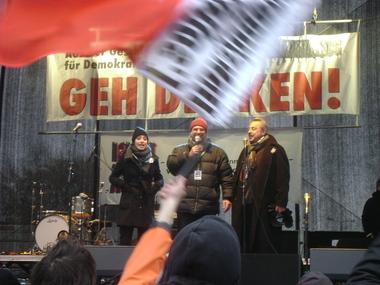 Stefanie und Wolfgang Stumph auf der Bühne