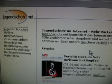Ausschnitt aus der Website Jugendschutz.net