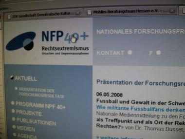 Website des Schweizerischen Nationalfonds