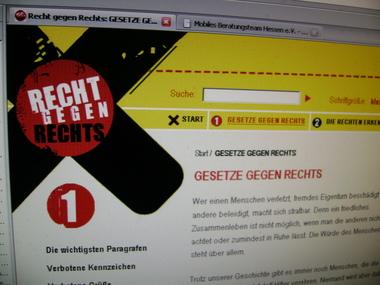 Webseite Rechte gegen rechts