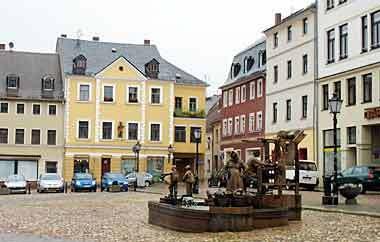Der Markt von Glauchau. Hier wird bald noch mehr Demokratie gemacht.