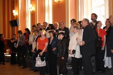 Alle Preisträger beim Gruppenbild