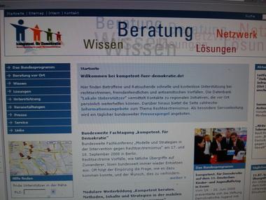 Website kompetent für demokratie